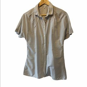GAP Pin Striped Cotton Collared Button Up Shirt M
